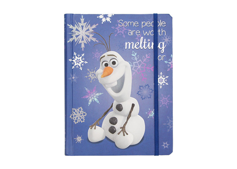 School Small Custom Printed Notebooks With Custom Pages Snowflake Glitter